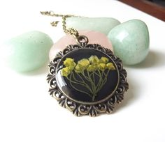 Vintage inspired real flower necklace in jet black by The Autumn Orchard. £18.00