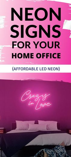 In love? Say it out loud with a vibrant neon sign that will bring any room to life. Neon Home Decor, The Heat, Love Neon Sign, Create Your Own Reality, Light Quotes, Neon Party, Custom Neon Signs, Everything Is Possible, Crazy Love