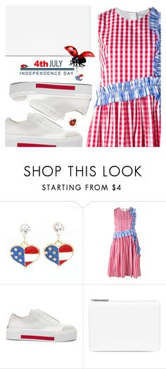 """Patriotic bug"" by sharmarie ❤ liked on Polyvore featuring MSGM, Alexander McQueen and Maison Margiela"
