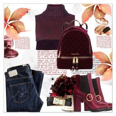 """""""Cozy Chic"""" by dragananovcic on Polyvore featuring Prada, Cédric Charlier, Tory Burch, AG Adriano Goldschmied, Zoya and MICHAEL Michael Kors"""
