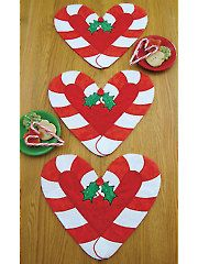 Candy Cane Holidays Placemat Pattern