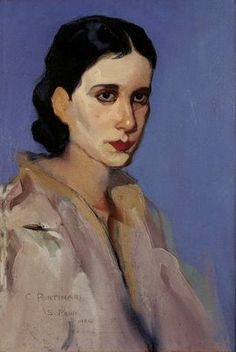 Candido Portinari (Brazilian, 1903-1962): Portrait of a Woman, 1933. - Google Search