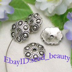seed_beauty 100pcs Alloy Metal Beads Caps 3mmx13mm Finding | eBay  $9.00 free