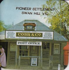 Op Shop goodie! Look its the old Cobb & Co office in Swan Hill! by astrostar123, via Flickr