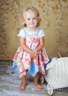 Precious dress pattern - want to try this for Sallie and Lucy, girls?