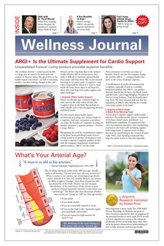 ARGI+ Wellness Report - Newspapers - Forever Tools