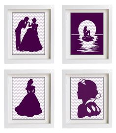 Disney Princess Wall Art by PartyMyWay on Etsy, $25.00