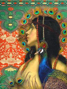PEACOCK'S GARDEN: Peacock illustration  This is a beautiful blog  http://peacocksgarden.blogspot.com/