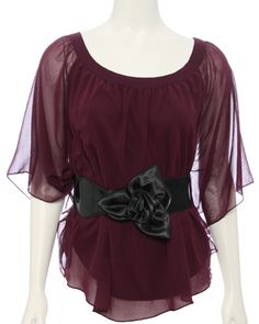 Maroon top from Rue 21. This gorgeous top is perfect for a special occasion!