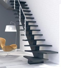 Spiral Stairs Design, Home Stairs Design, Interior Stairs, House Design, Modern Stair Railing, Stair Railing Design, Modern Stairs, Tiny House Stairs, House Staircase