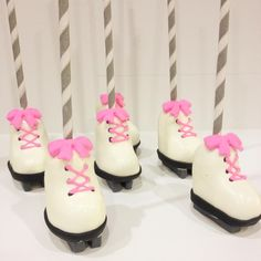 Ice skate cake pops I made for @charmingtouchparties.
