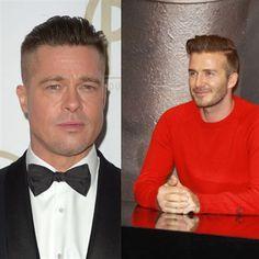 Brad Pitt & David Beckham's Long Fades    Men's hair style    men's haircut    Paul Mitchell the School    #Mitchen