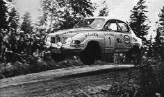Simo Lampinen (Saab 96 V4) Rallye des 1000 lacs - L'Automobile septembre 1973