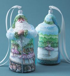 Hilaire Claus Patricia Breen (Degas, glittered, dancer, green/pink/blue, ballet Christmas ornament)