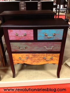 cute and colorful dresser!