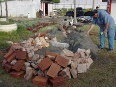 Fake Rock, Firewood, Concrete, Sculptures, Gardening, House, Adult Pranks, Fire Pits, Front Yard Landscaping