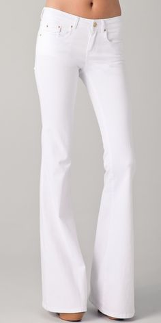 Rachel Zoe White flare jeans- bought them and love them! my fav!