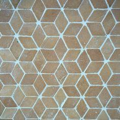 mini diamonds in terracotta OCRA by Fornace Brioni