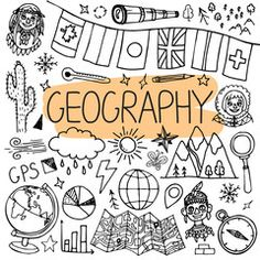 Vector back to school illustration. – Buy this sto… Geography hand drawn doodles. Vector back to school illustration. – Buy this stock vector and explore similar vectors at Adobe Stock Geography Quotes, Geography Lesson Plans, Geography Quiz, Geography Worksheets, Ap Human Geography, Geography Activities, Geography For Kids, Geography Revision, Gcse Geography