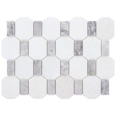 Stone Mosaic Tile, Marble Mosaic, Mosaic Tiles, Grey Backsplash, Kitchen Backsplash, Gray Polish, White Pencil, Grey Tiles, Marble Stones