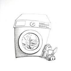 On instagram by annamoserillu #madewithpaper #enclavedepod (o) http://ift.tt/1UjH1P8. washing machine #365doodleswithjohannafritz @byjohannafritz unsere Waschmaschine hat manchmal eine lustige Interpretation von Zeit besonders die letzte Minute. Da bekommt die Relativitätstheorie eine ganz andere Bedeutung.  #washingmachine #waschmaschine