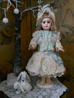 ~~~ Most Beautiful French Silk Costume with Bonnet ~~~ from whendreamscometrue on Ruby Lane
