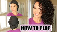 Today I'm here to show you how to plop your hair. This curly hair plopping technique is good for getting defined curls with the least amount o. Dry Curly Hair, Curly Hair Tips, Curly Hair Routine, Curly Hair Plopping, Curly Hair Overnight, Overnight Curls, Curled Hairstyles, Diy Hairstyles, Curly Hair Tutorial