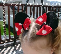 Minnie Mouse hair clips