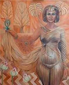 """Asherah ""– Tree Goddess of Hebrew and Arab culture.) ""Fire woman of the 'Burning Bush'"", the Tree of Life. ""URA"" – the inner 'Awakened fire serpent'. Ancient Goddesses, Egyptian Mythology, Gods And Goddesses, Isis Goddess, Earth Goddess, Ishtar Goddess, Egyptian Goddess, Egyptian Art, Sacred Feminine"