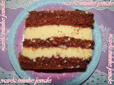 Bolo de chocolate com recheio trufado de maracujá e coco - bolo de aniversário