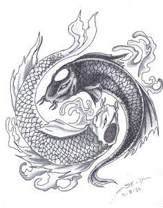black and grey yin yang tattoo - Google Search