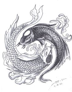 black and grey yin yang tattoo - Google Search