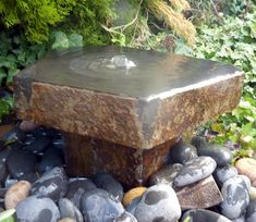 Invoke the simple beauty of the natural world with solid basalt and the deeply appealing