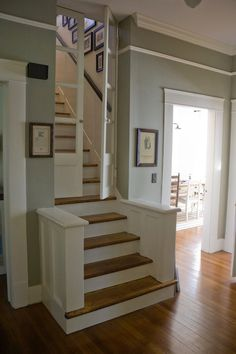 I love the doors on the stair case. Great way to keep unwanted guests out without the ugliness of a baby fence/dog door.