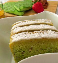 Cactus cake.  Delicias de la Comida Prehispanica: Pastel de NOPAL