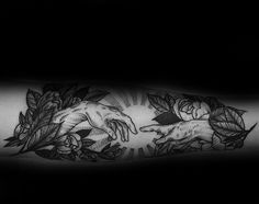 Inner Forearm Flowers With Sun Rays The Creation Of Adam Mens Tattoo Ideas