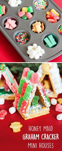Simply grab HONEY MAID graham crackers, an assortment of green and red colored Sour Patch Kids candies, and plenty of icing—all of which can be found at Walmart—to get your kids started creating th… Winter Treats, Holiday Treats, Christmas Treats, Christmas Cookies, Christmas Classroom Treats, Holiday Recipes, Holiday Desserts, Preschool Christmas, Christmas Games