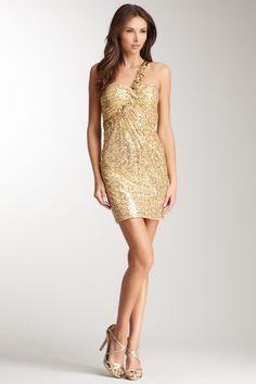 La Femme One Shoulder Sequin Dress by La Femme on @HauteLook