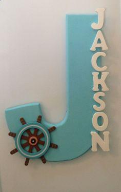 Custom nautical name decor-Jackson- Nautical Nursery- Baby Boy
