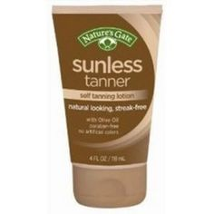 Natures Gate Sunless Tanner Self Tanning Lotion 4 oz by Nature's Gate. $8.10. This lightweight, non-streak lotion provides the look of a glowing tan, without exposing your skin to the damaging effects of the sun. Nature's Gate. Natures Gate Sunless Tanner Self Tanning Lotion 4 oz. Save 10% Off!