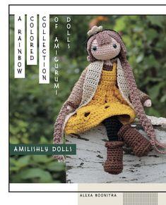 Amilishly Dolls - A Rainbow Coloured Collection of Amigurumi Dolls - Alexa Boonstra Pull Crochet, Crochet Box, Crochet Doll Pattern, Crochet Dolls, Free Crochet, Crochet Patterns, Amigurumi Doll, Amigurumi Patterns, Doll Patterns
