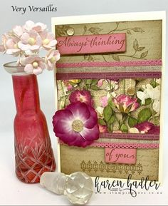 These two Stamp Sets Fanciful Fragrance and Very Versailles go together perfectly and was two of the sets on the very top of my list :-) They are perfect for making those old fashioned vintage type cards. I have combined them with the Pressed Petals Desig Price Of Stamps, How To Make Stencils, Stampin Up Catalog, Vintage Type, Color Card, Flower Cards, Versailles, 3 D, Decorative Boxes