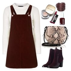 """""""TOPSHOP pinafore"""" by thestyleartisan ❤ liked on Polyvore featuring Topshop, Dolce&Gabbana, rag & bone, Zimmermann, Essie and Sif Jakobs Jewellery"""