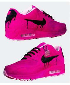 new product 34d67 1bea7 Nike Air Max 90 Candy Drip Black Lovely Pink Shoes Mens Training Shoes, Air  Max