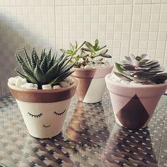 DIY: vasos de suculentas