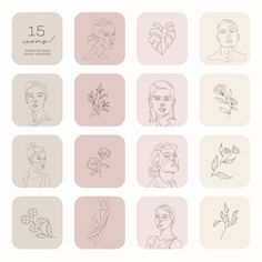 Ios Icon, Icon Set, Icon Design, Pink And Green, Minimalism, Design Inspiration, Canvas, Creative, Art