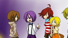 (by: pole-bear) Five nights at Freddy's Before they were killed Bonnie, Freddy, foxy, Chica and Goldie Foxy and Chica are holding Hands! Five Nights At Freddy's, Good Horror Games, Rpg Horror Games, Fnaf 1, Anime Fnaf, Fnaf Pole Bear, Animatronic Fnaf, Fnaf Freddy, Fnaf Characters