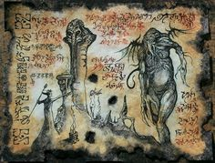 Cthulhu larp RLYEH RITUALS Necronomicon page Scroll Magick occult witch