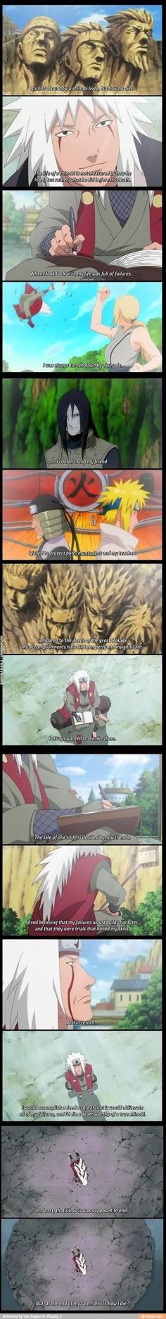 I would read Jiraiya's story. He tells the truth, even if it isn't glorious, and you root for him in the end.