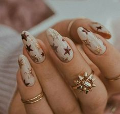 Star Nail Designs, Winter Nail Designs, Colorful Nail Designs, Burgundy Nail Designs, Burgundy Nail Art, Nude Nails, Acrylic Nails, Manicure, Cute Christmas Nails